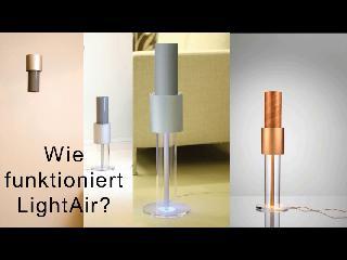 Für gereinigte Raumluft Light Air Surface